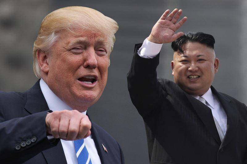 Tổng thống Hoa Kỳ Donald Trump và Chủ Tịch Bắc Hàn Kim Jong Un. Nguồn internet.
