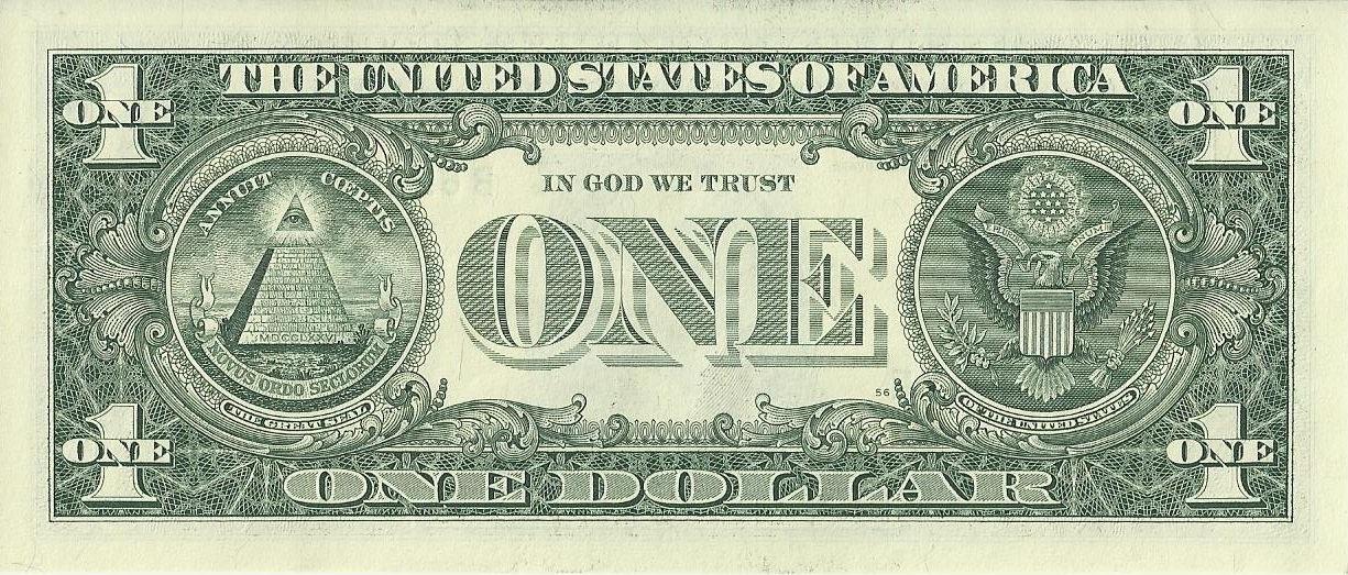 Tờ giấy tiền 1 đồng của Hoa Kỳ. Nguồn images.