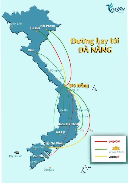 Vị trí của Đà Nẵng trên bản đồ Việt Nam. Nguồn internet.