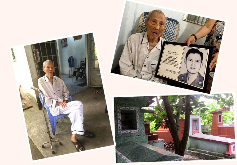 Chuẩn tướng nằm vùng Nguyễn Hữu Hạnh trong căn nhà trong khu nghĩa địa. Nguồn Nhật Bình - Người Việt.