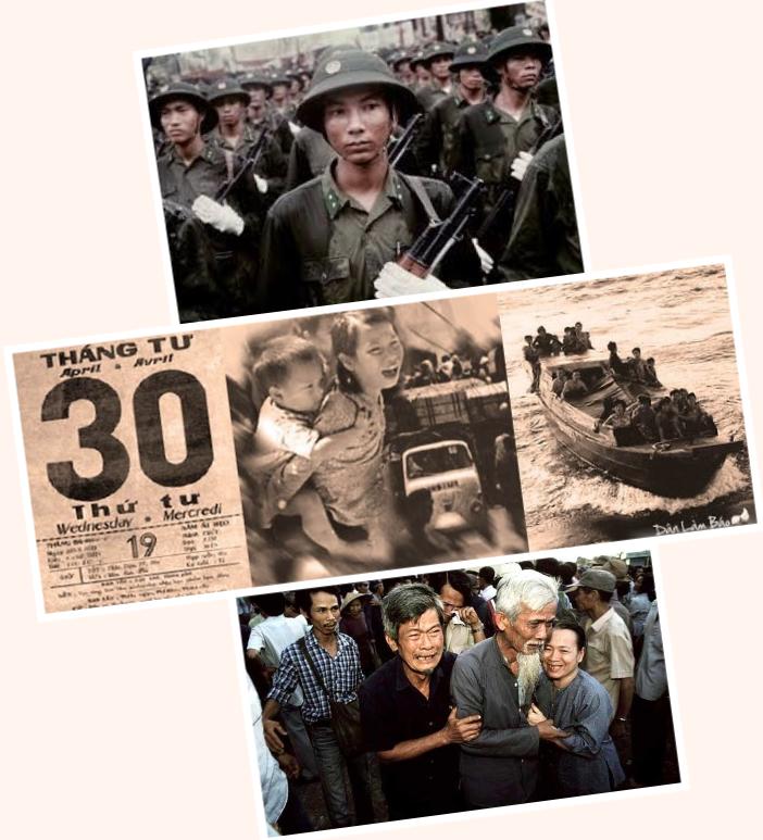 Một Ngày Ghi Nhớ - 30 tháng 4 - đã đem lại bao cảnh ly tan đau đớn cho dân tộc. Nguồn ảnh từ internet.