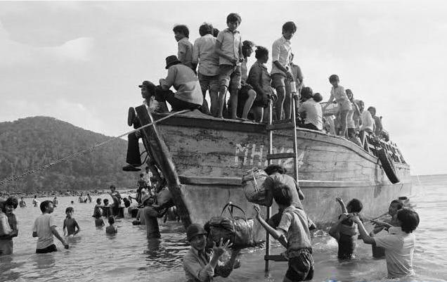 Những thuyền nhân Việt Nam chạy trốn chế độ Việt Cộng. Nguồn internet..