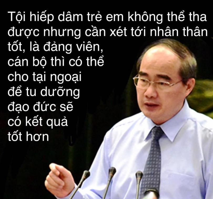 Nguyễn Thiện Nhân phát biểu về tội hiếp dâm trẻ em của đảng viên Việt Cộng.