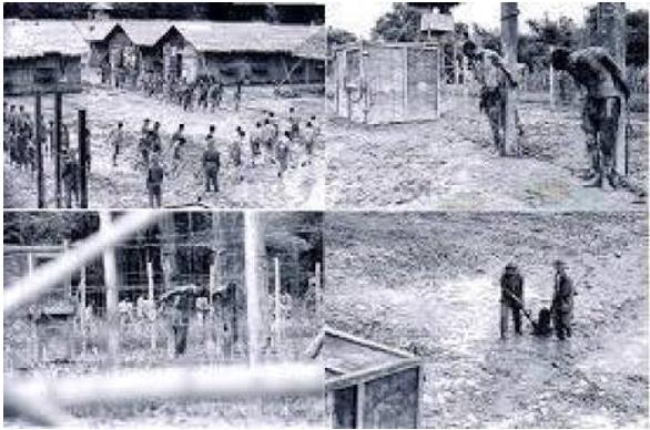 Cuộc sống của những viên chức và quân nhân VNCH trong trại tù cải tạo cộng sản sau tháng 4 1975. Nguồn internet.