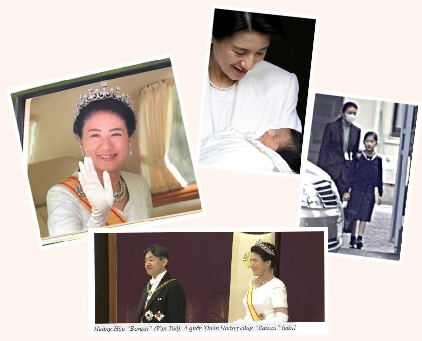 Nhật hoàng Naruhito, hoàng hậu Masako. và công chúa Aiko. Nguồn Vũ Đăng Khuê.