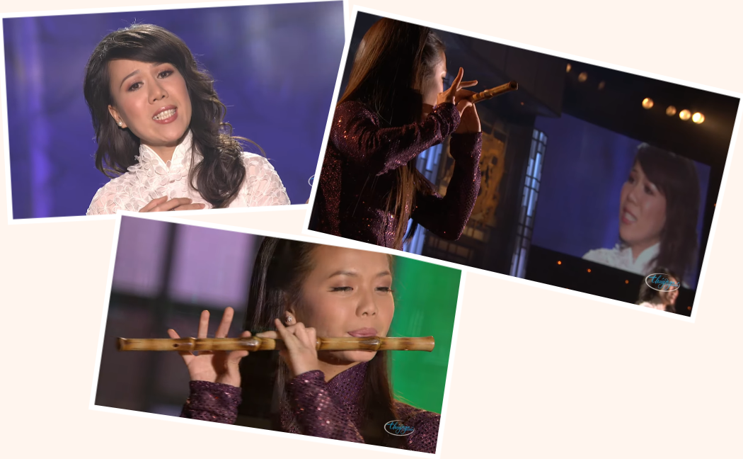 Nhạc phẩm Quê Mẹ của nhạc sĩ Thu Hồ trình bầy bởi ca sĩ Mai Thanh Vân. Nguồn internet.