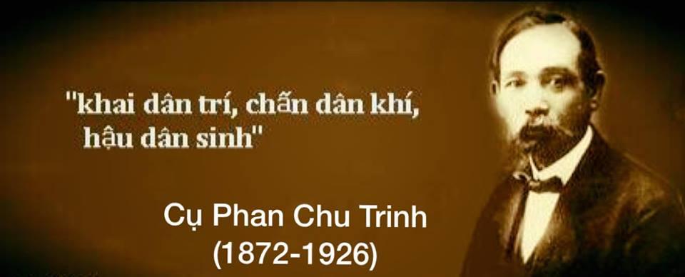 Khai Dân Trí - Chủ trương của cụ Phan Chu Trinh. Nguồn internet.