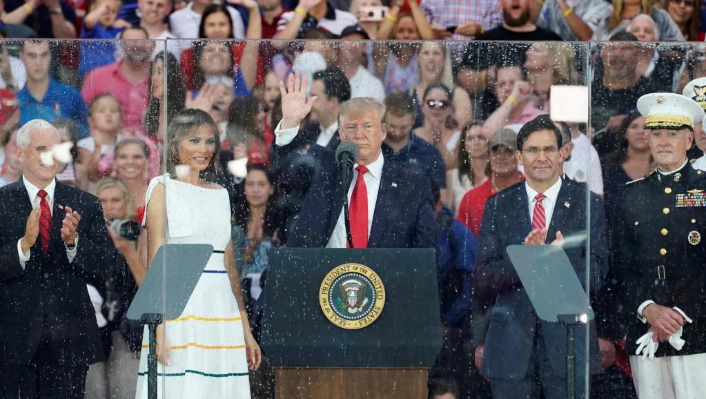 Tổng thống Trump trong ngày july 4, 2019. Nguồn internet.