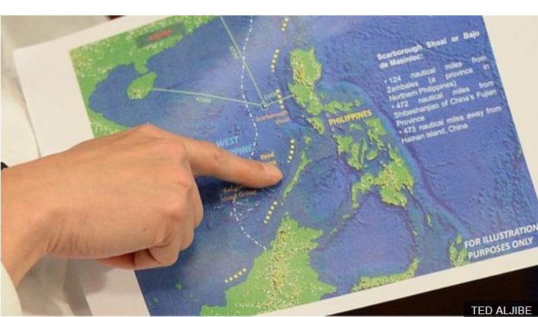 Bản quyền hình ảnh TED ALJIBE. Image captionĐường chín đoạn của Trung Quốc trên bản đồ