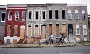 Một cảnh Baltimore (nguồn The Guardian.com)