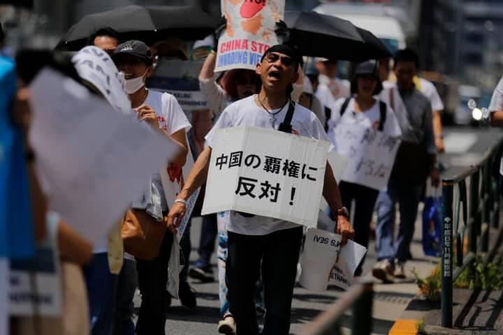 BT phản đối TQ xâm lấn hải phận VN-Tokyo-080319-22.jpg