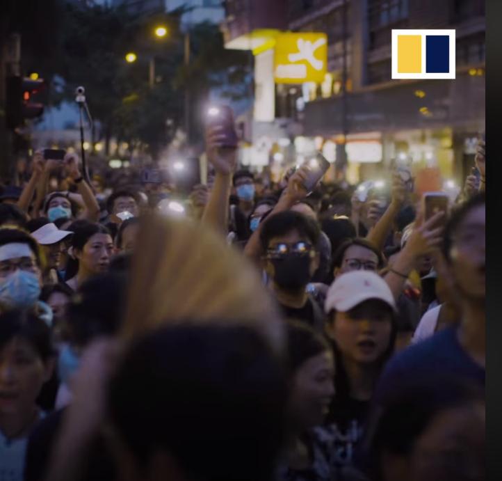 Cuộc tuần hành của những người công giáo ủng hộ cuộc đấu tranh của giới trẻ Hong Kong.