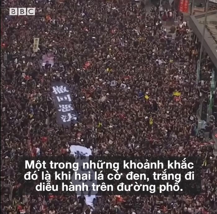 Người Hong Kong hòa nhập trong cuộc đấu tranh cho tương lai đất nước. Nguồn BBC.