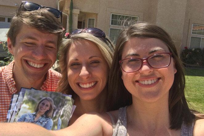 Graham Kelly, Katie Hill và Morgan Desjardins