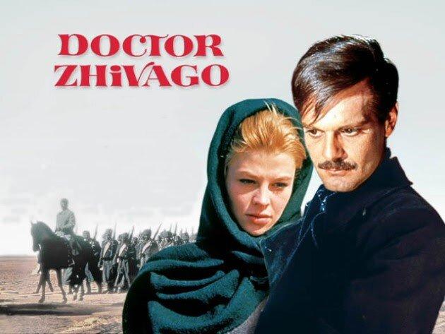 Omar Sharif và Julie Christie trong một cảnh phim Bác sĩ Zhivago. Nguồn internet.