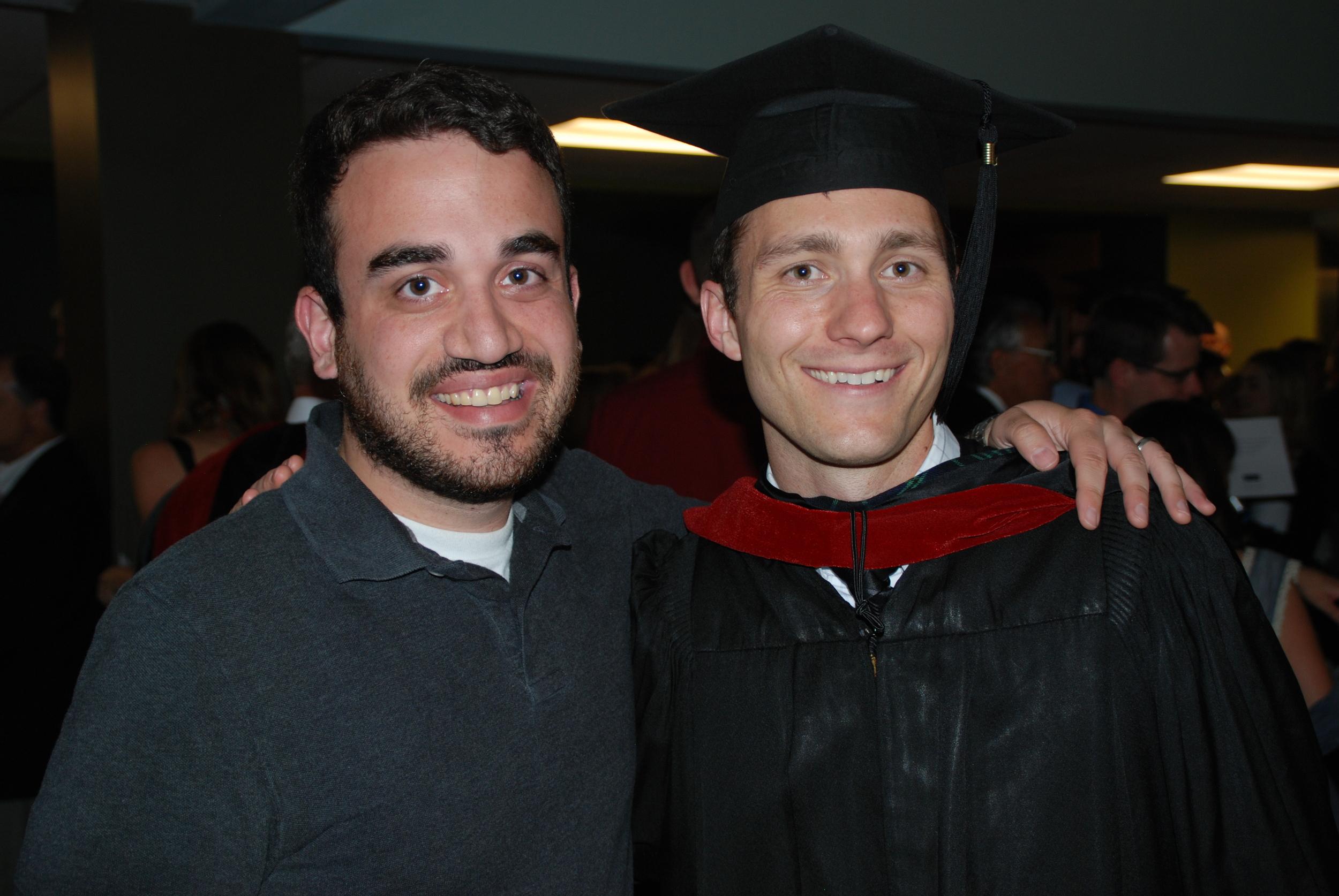Graduation Night with my friend Marc.