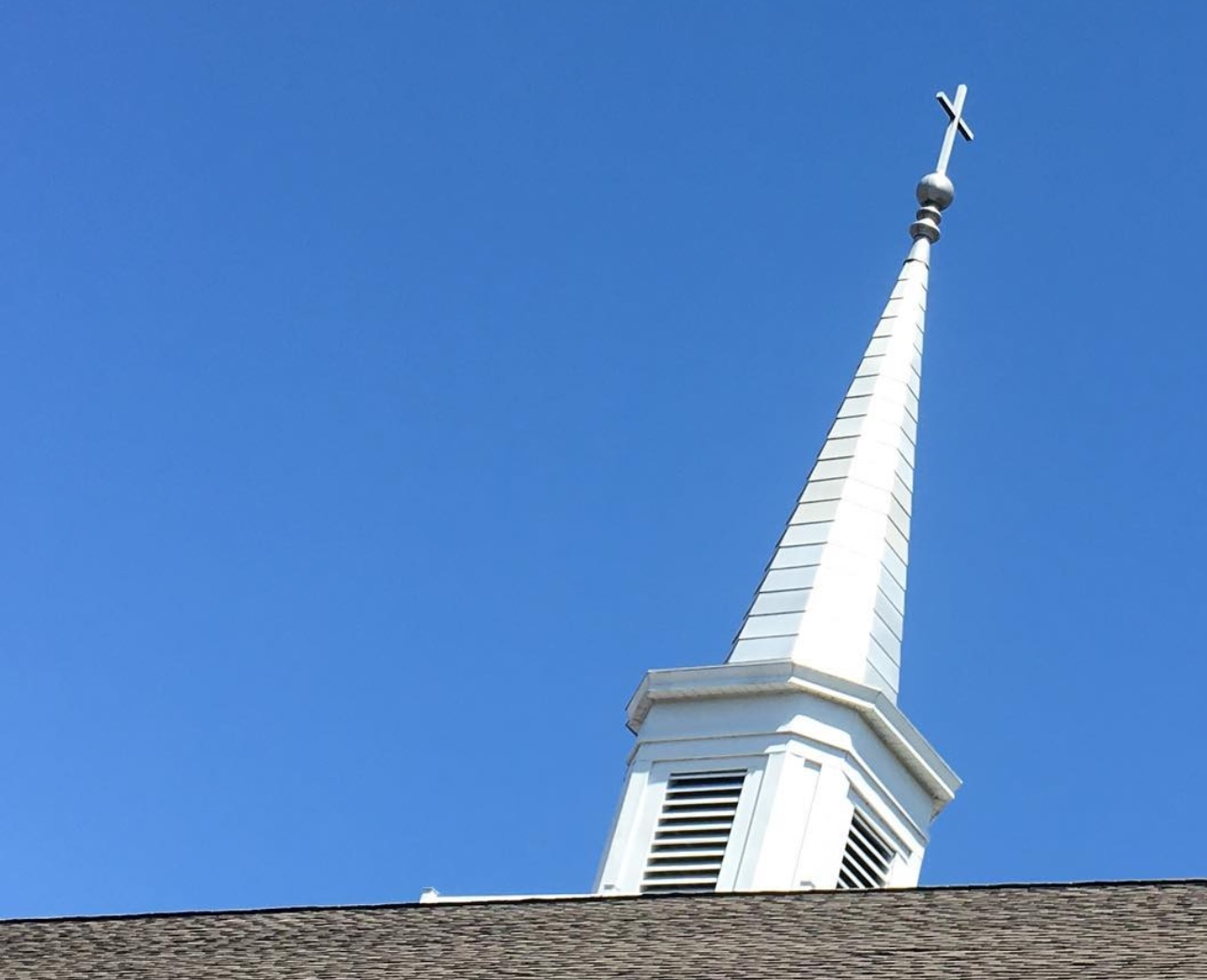 Photo: The steeple of Community Evangelical Free Church, the church I've been a pastor at for the last five years.