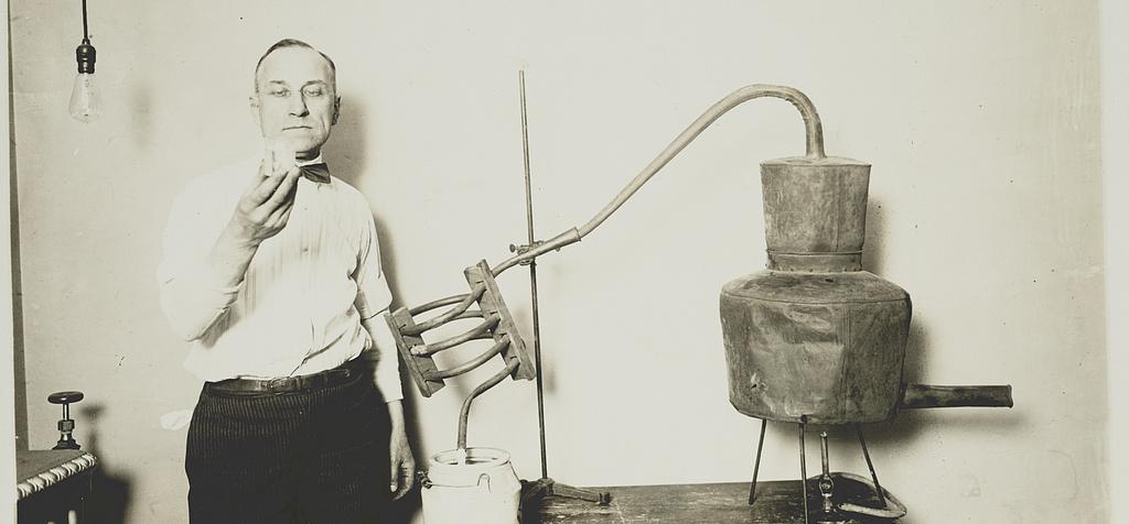 Inspection of Homemade Moonshine