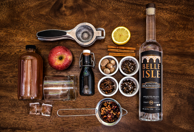 Cider Spice Infused Moonshine Ingredients