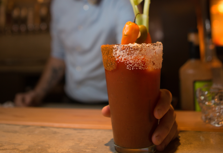 Chili Pepper Infused Moonshine Bloody Mary Cocktail