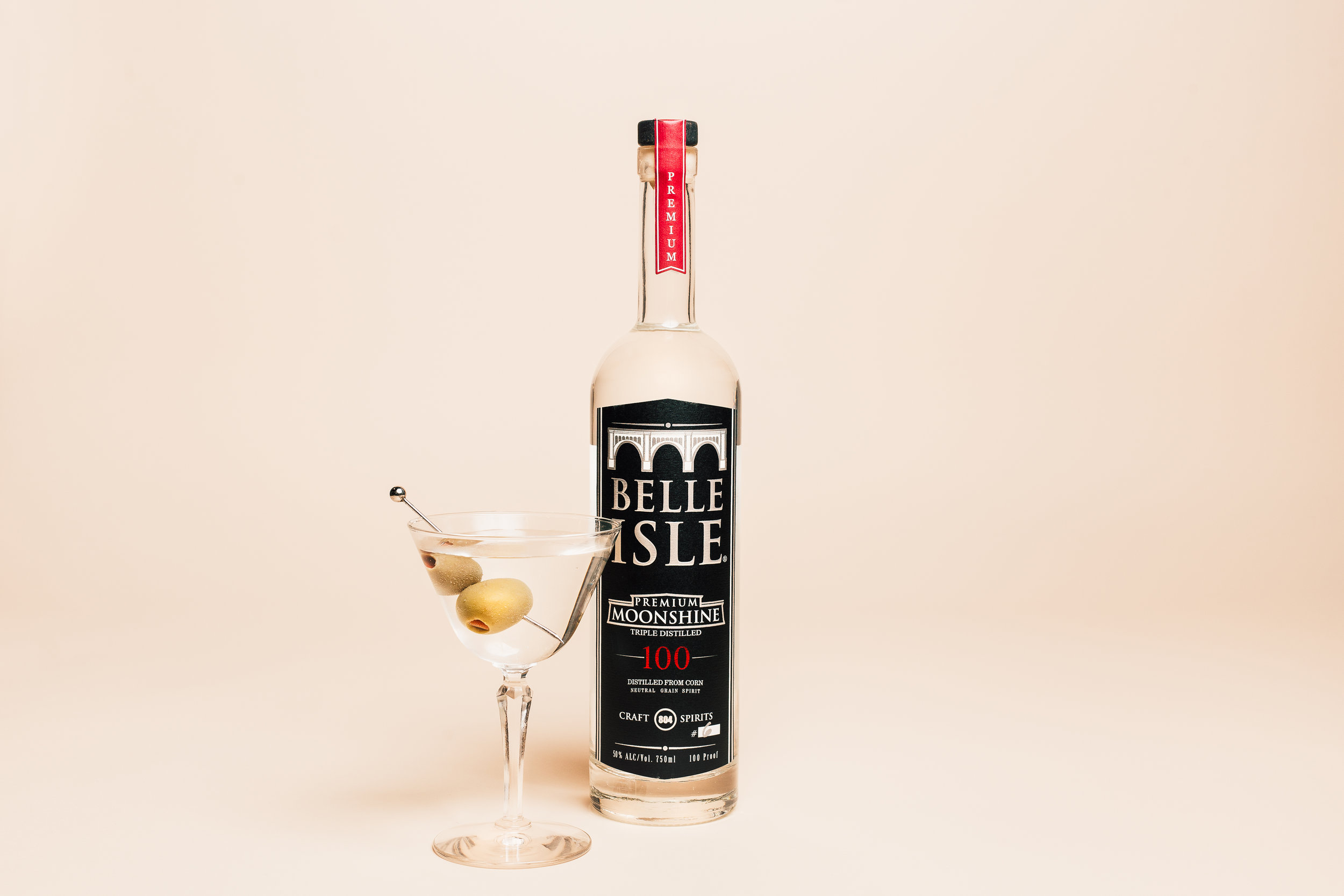 Belle Isle 100 Proof makes the king of all martinis. Photo by  Joey Wharton .