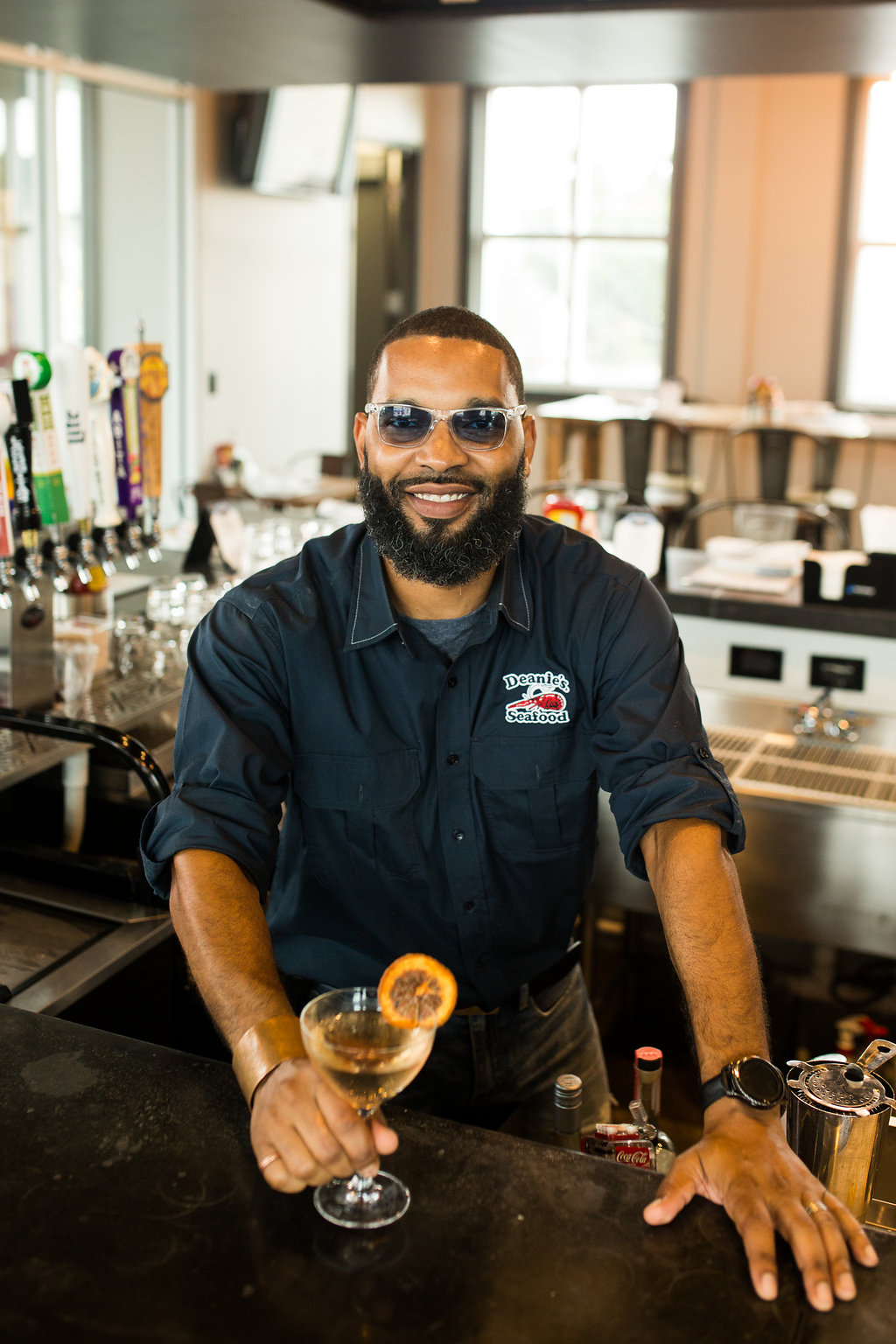 Visit bartender Eric Maberry at Deanie's Seafood on Magazine Street!
