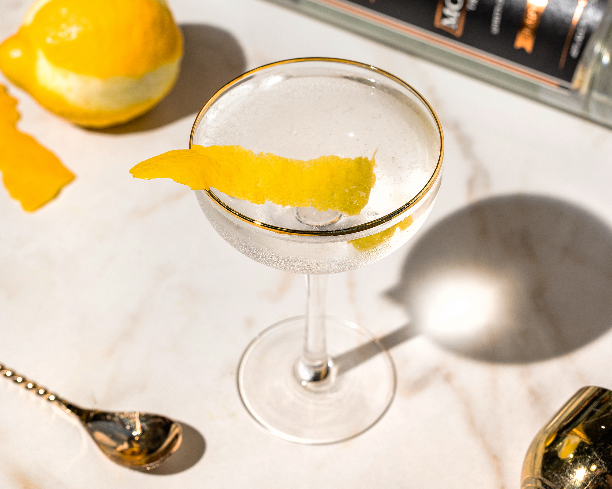 Whether you like it dirty or with a twist, a moonshine martini is always a good idea.