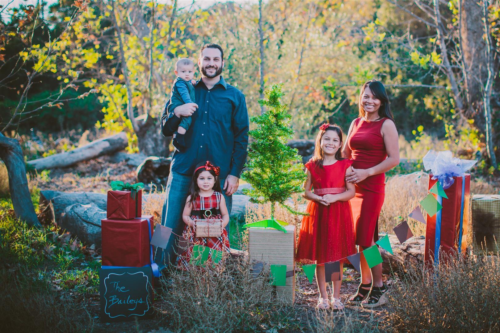 San Diego Christmas Family Portrait Session