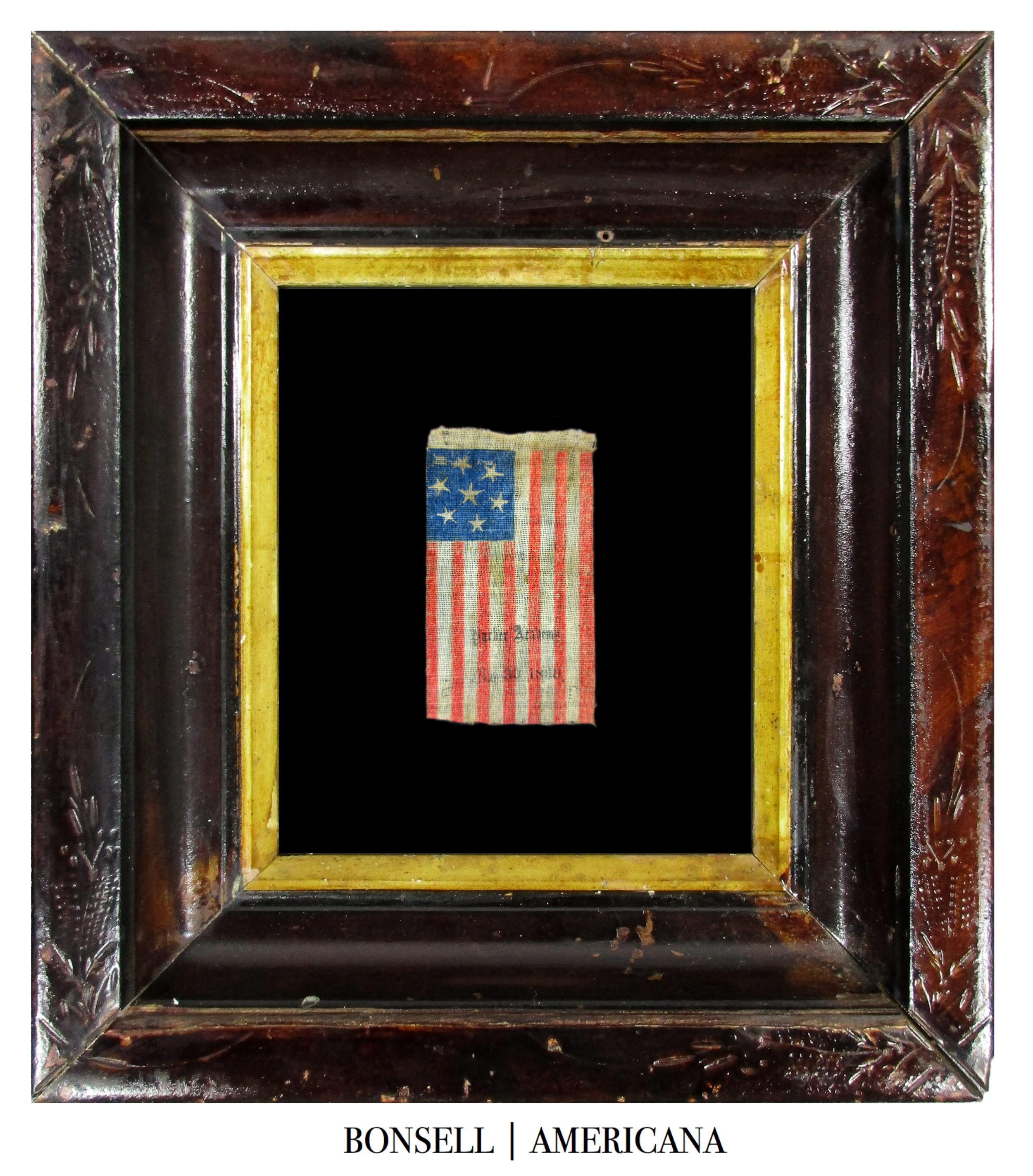 7 Star Antique Flag with Overprint