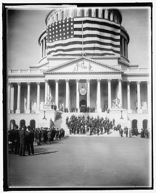 GAR Parade Flag at the Capitol | Circa 1905