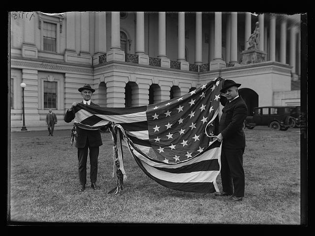 Torn Flag as the Result of a Wind Storm on January 16th, 1917