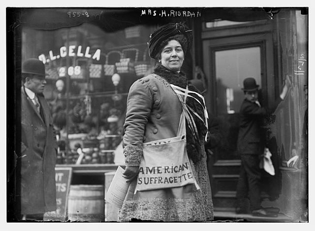 Mrs. H. Riordan, Suffragette in New York | Circa 1910
