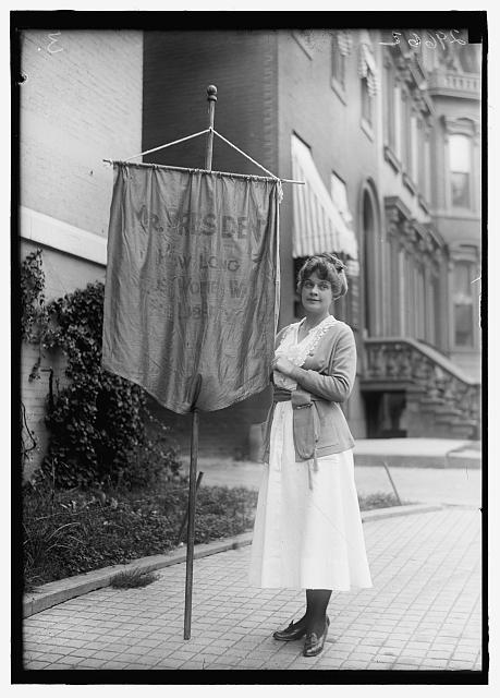 Suffragette with Banner | Circa 1918