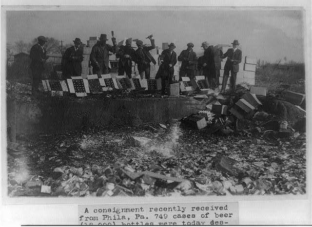 Beer Destroyed in a Washington D.C. Landfill   Circa 1923