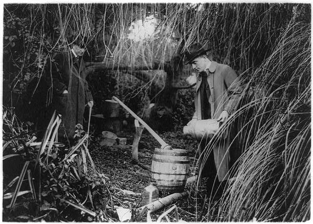 Dismantling a Still in San Francisco   Circa 1909