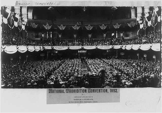 National Prohibition Convention   Circa 1892