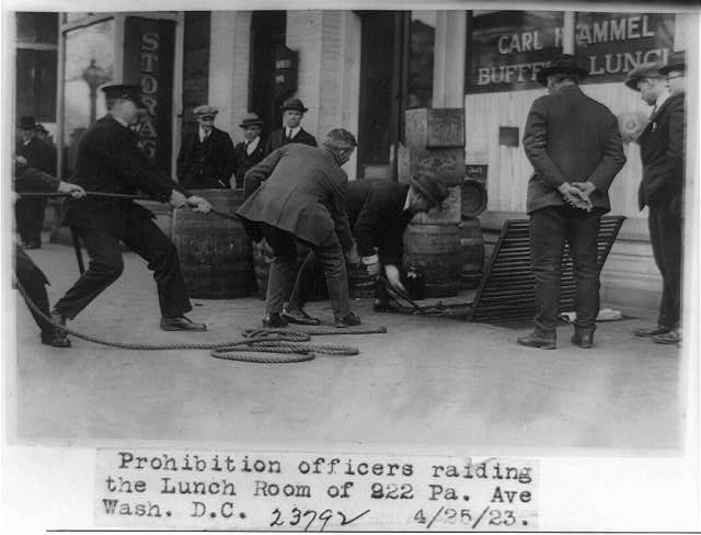 Prohibition Officers Raiding the Lunch Room of 922 Pa. Ave. in Washington, D.C.   Circa 1923