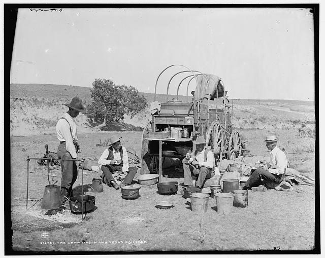Camp Wagon on a Texas Roundup | Circa 1900