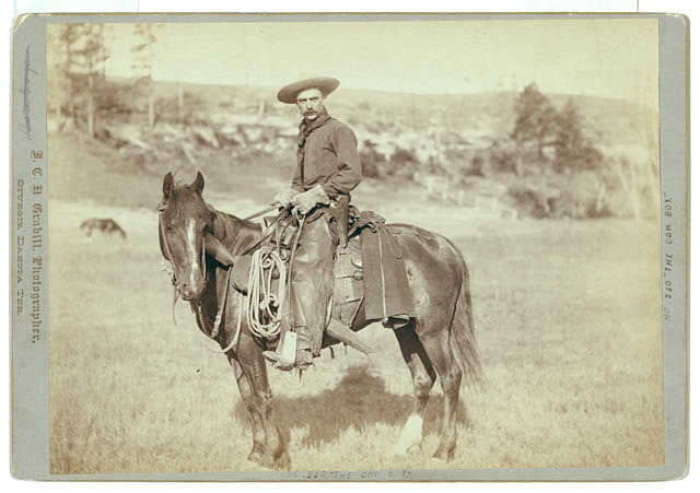 Cowboy on a Horse in Sturgis, South Dakota | Circa 1888