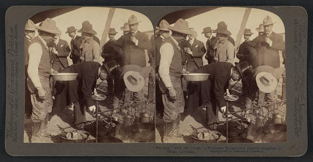 President Roosevelt's Cowboy Breakfast in Hugo Colorado | Circa 1903