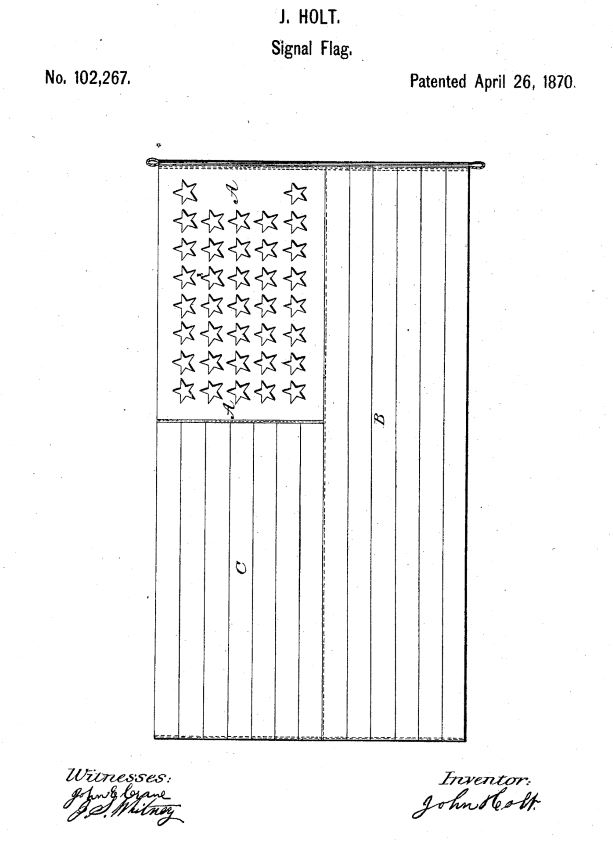 US102,267 | Improvement in Signal and Other Flags | Circa 1870