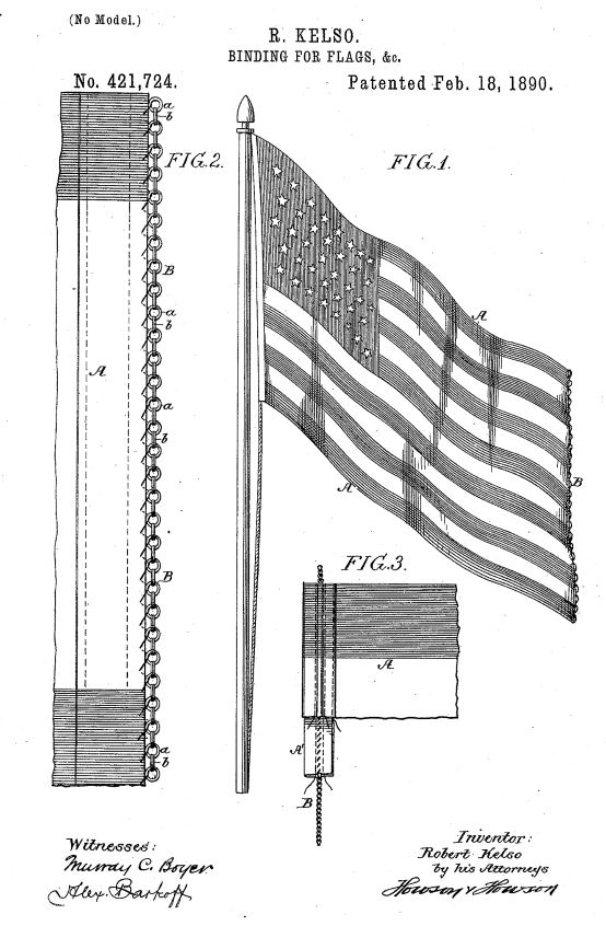 US421,724 | Binding for Flags | Circa 1890