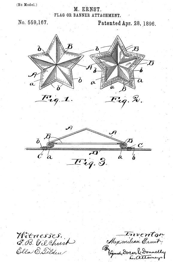 US559,167 | Flag or Banner Attachment | Circa 1896