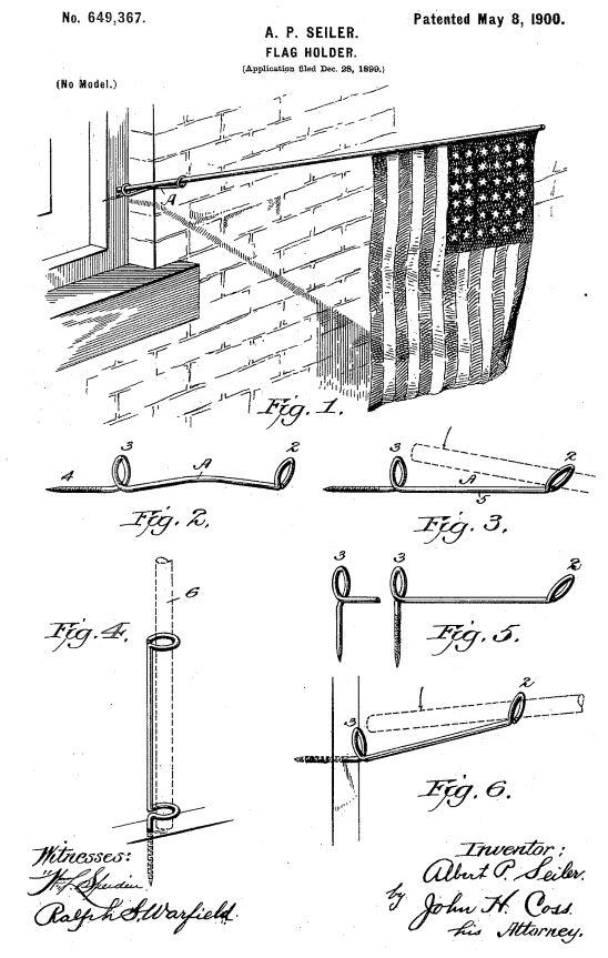 US649,367 | Flag Holder | Circa 1900