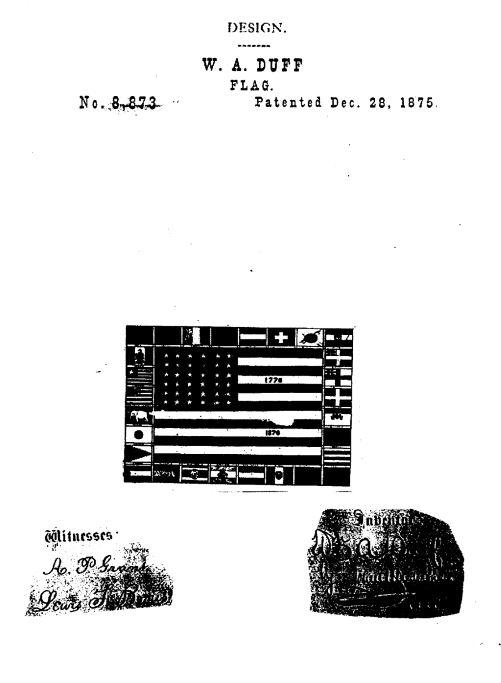 USD8,873 | Design for a Flag | Circa 1875