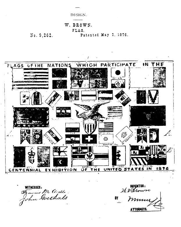 USD9,262 | Design for a Flag | Circa 1876