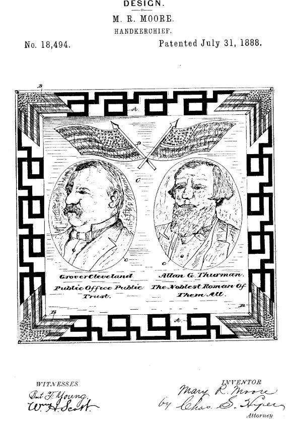 USD18,494 | Design for a Handkerchief | Circa 1889