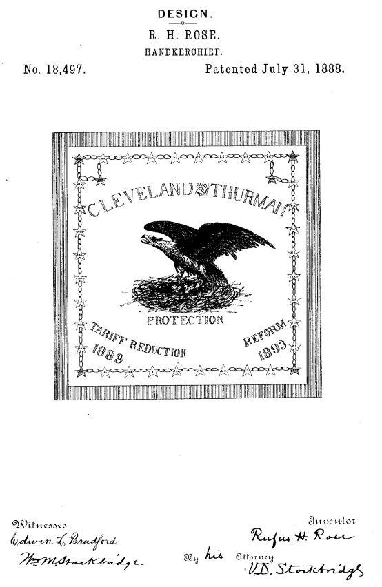 USD18,497 | Design for a Handkerchief | Circa 1889
