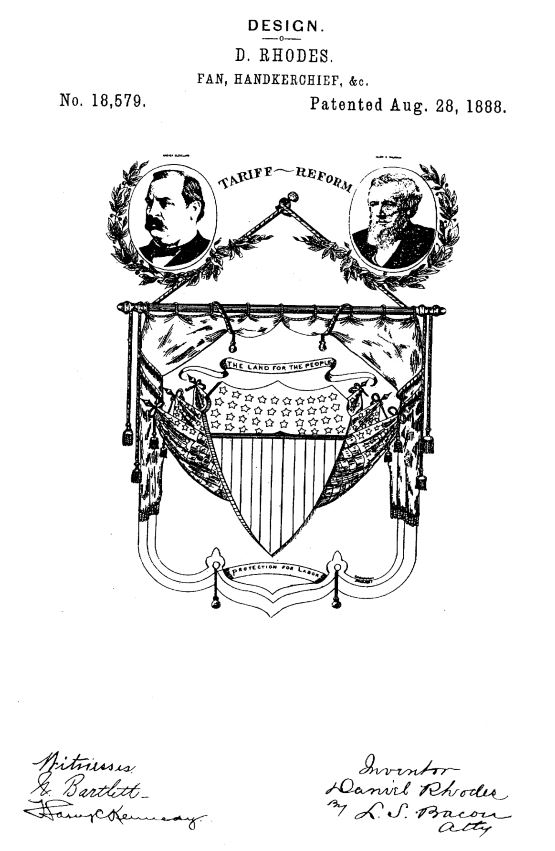 USD18,579 | Design for a Fan or Handkerchief | Circa 1888