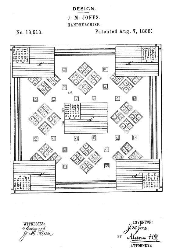 USD18,513 | Design for a Handkerchief | Circa 1889